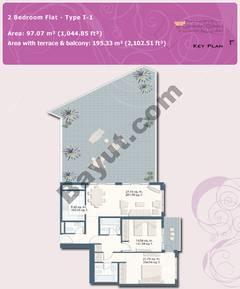 2 Bedroom Flat Type I-1
