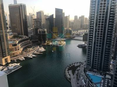 2 Bedroom Flat for Sale in Dubai Marina, Dubai - Full marina view 2 BR High floor close to beach