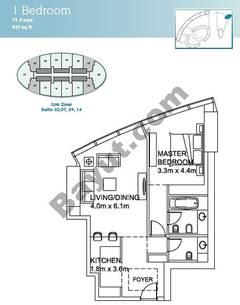 1 Bedroom Suite (2,7,9,14)