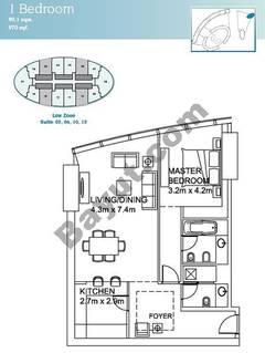 1 Bedroom Suite (3,6,10,13)