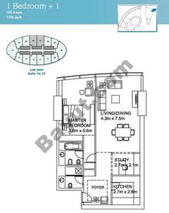 1 Bedroom Suite (4,5)