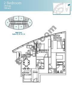 2 Bedroom Suite (2,5,7,10)