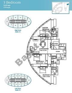 3 Bedroom Suite 1 High Zone