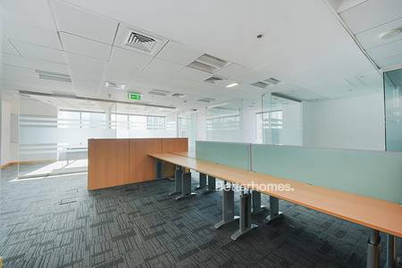Office for Rent in Jumeirah Lake Towers (JLT), Dubai - Fully Fitted Office with Glass Partition