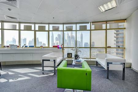 Office for Rent in Jumeirah Lake Towers (JLT), Dubai - Furnished | Partitioned | Open Terrace