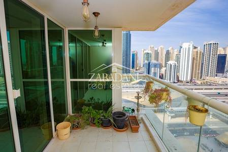 2 Bedroom Flat for Rent in Jumeirah Lake Towers (JLT), Dubai - 2 Bed with SZR view | Next to Metro | With Balcony