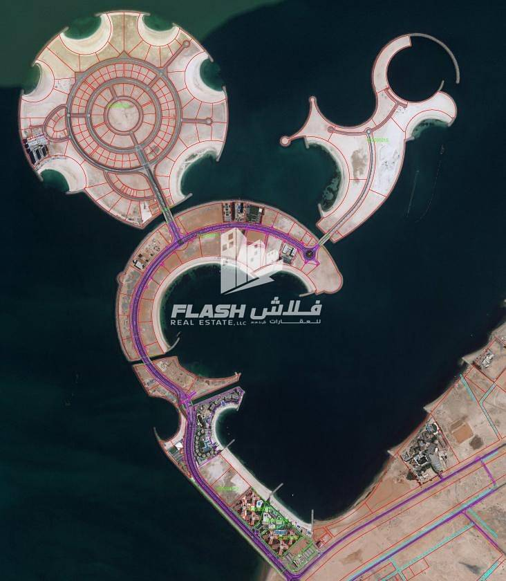 9 Mix-used Plot Beachfront for Sale in AlMarjan Island