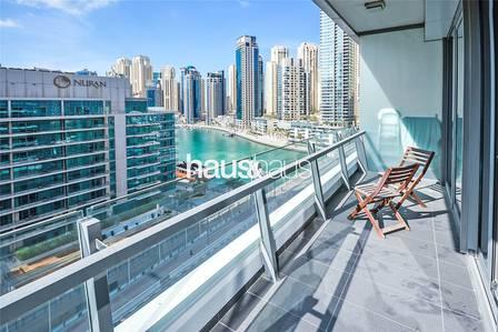 1 Bedroom Apartment for Rent in Dubai Marina, Dubai - Silverene Tower | Marina Views | Balcony