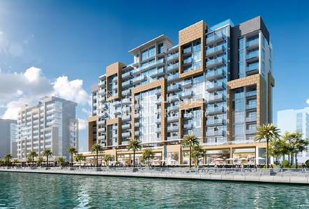 1 Bedroom Apartment for Sale in Meydan City, Dubai - Corner 1BR with Full Canal View in Azizi Riviera at Meydan