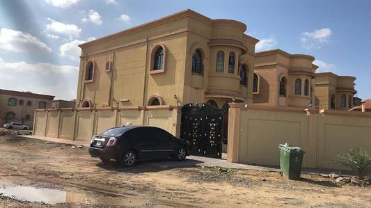 Corner site Villa for rent in Al Zahra G 1 ground floor 1 Room   1 hall 1st floor or 3 master bed room hall garage hosh out side rent AED 70,000 by 4 chq family or company staff no issue