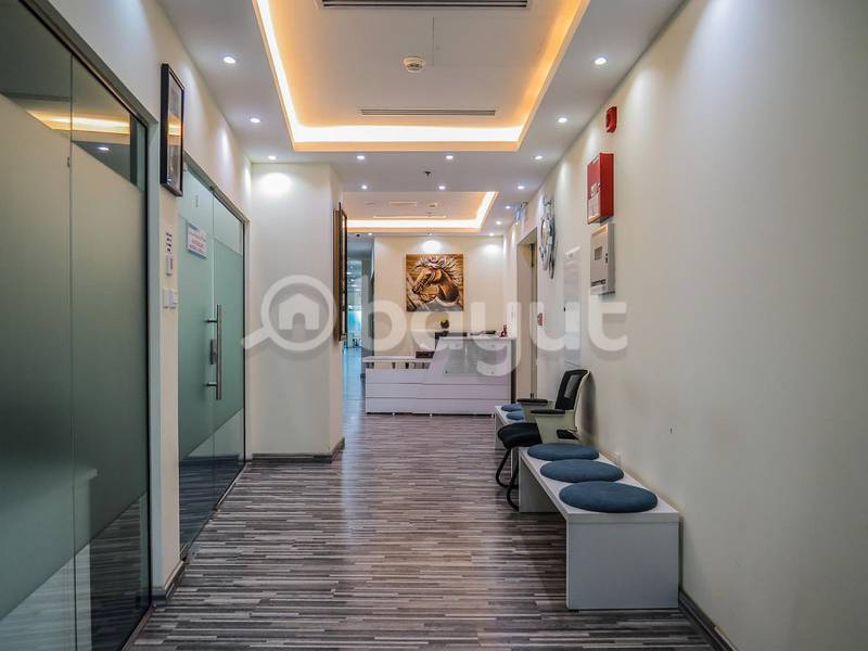 FULL YEAR EJARI-FULLY FURNISHED OFFICE | LOCATION, SIZE AND CONVENIENCE