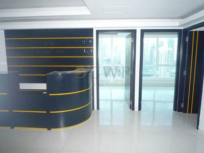 Office for Rent in Jumeirah Lake Towers (JLT), Dubai - Fitted office I SZR view I High Floor...