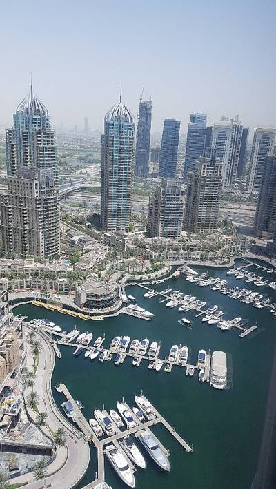2 Bedroom Apartment for Rent in Dubai Marina, Dubai - Marina View|2 BR|Cayan Tower|High Floor