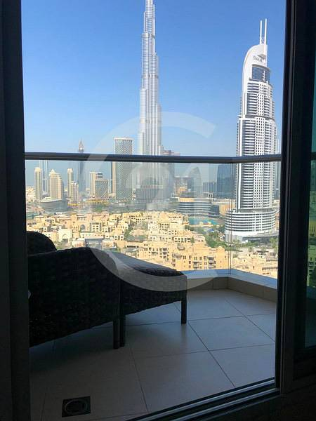 Spacious 2 bedroom apartment with full burj khalifa and fountain view