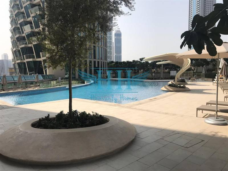 2 Stunning Sea View in Burj Vista I Vacant 1 BR for Sale