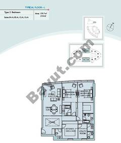 Type L 2 Bedroom Suite (4,5,12,13)