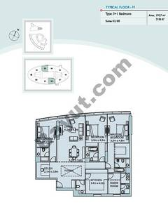 Type H 3 Bedroom Suite (3,8)