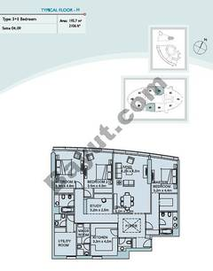 Type H 3 Bedroom Suite (4,9)