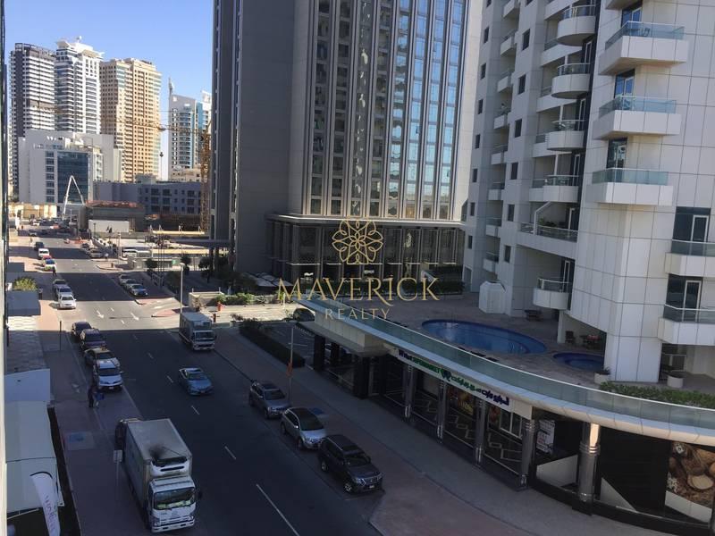 10 Partial Sea View | Bright Studio | 4 Cheques | Dubai Marina