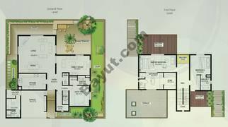 Floor (Ground,1) Villa Type A 3 Bedroom