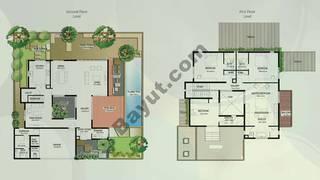 Floor (Ground,1) Villa Type A 4 Bedroom