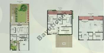 Floor (Ground,1,2) Type A 3 Bedroom Townhouse