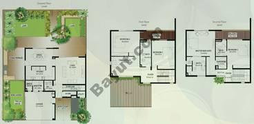 Floor (Ground,1,2) Type A 4 Bedroom Townhouse