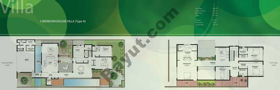 Floor (Ground,1) Villa Type A Duplex 5 Bedroom