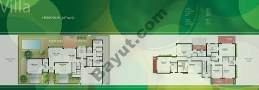 Floor (Ground,1) Villa Type S 5 Bedroom