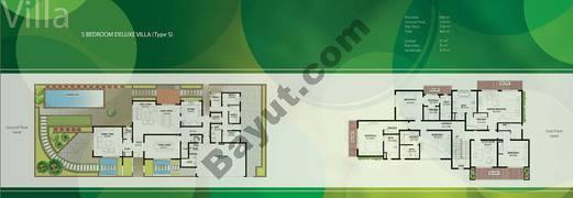 Floor (Ground,1) Villa Type S Duplex 5 Bedroom