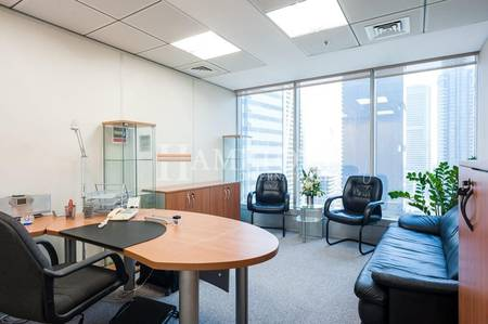 Office for Rent in Jumeirah Lake Towers (JLT), Dubai - Furnished Office | Pantry | Mid Floor