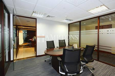 Office for Rent in Jumeirah Lake Towers (JLT), Dubai - Beautiful Fitted Office in Tiffany Tower