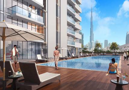Studio for Sale in Meydan City, Dubai - Own a luxury apartment with the view of Burj Khalifa