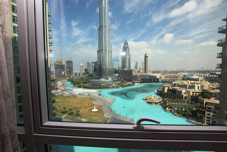 2 UNFORGETTABLE Fountain and Burj Khalifa view 3BR+Maid+Balcony in Tower-5