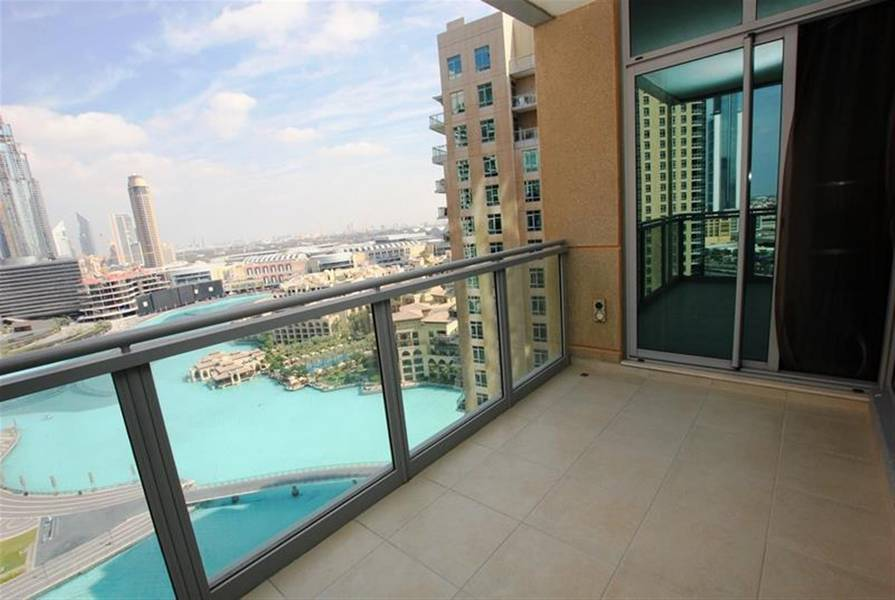 14 UNFORGETTABLE Fountain and Burj Khalifa view 3BR+Maid+Balcony in Tower-5