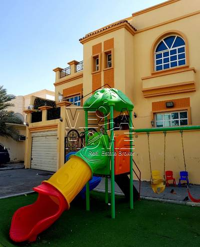 4 Bedroom Villa for Rent in Khalifa City A, Abu Dhabi - Big WOW ! 4 Master Bed Villa /Private Entr/ Children play Area