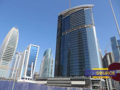 Office for Rent in Business Bay, Dubai - NEAR to METRO Fitted office space for Rent with Burj Khalifa view