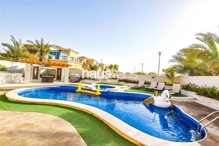 5 Bedroom Villa for Rent in Jumeirah Park, Dubai - Marble Floor | Single Row | Unique 5 Bed