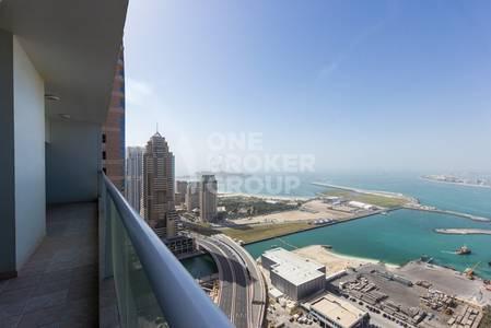 3 Bedroom Flat for Rent in Dubai Marina, Dubai -  Stunning full sea view.