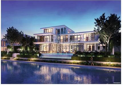 5 BR Luxury villa with water and park view