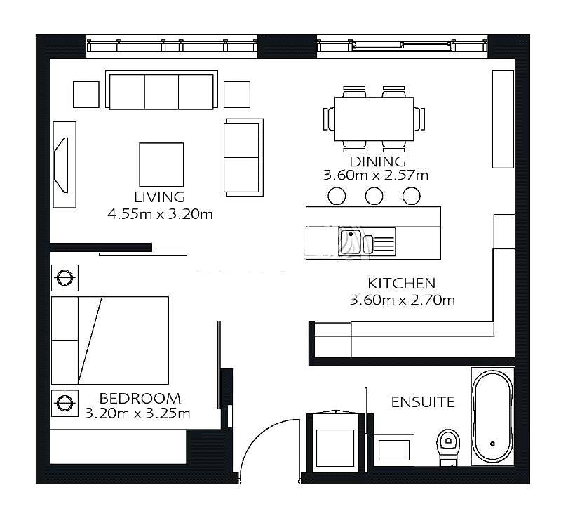 10 One Bedroom  | Lofts Podium |  ROI 5.5%