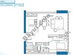 1 Bedroom Unit 3