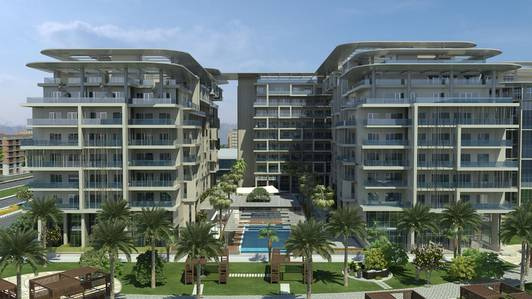 2 Bedroom Apartment for Sale in Masdar City, Abu Dhabi - Two Bedroom with Leafy Boulevard View .