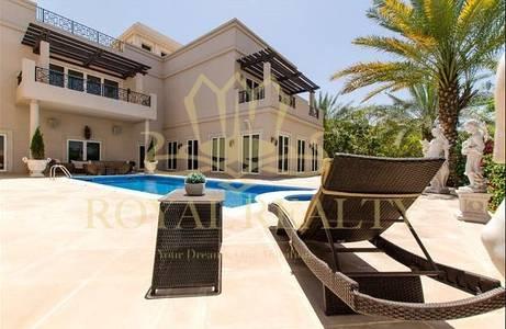 6 Bedroom Villa for Sale in Emirates Hills, Dubai - Sparkling Pool |  Beautiful Open Floor Plan