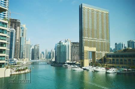 1 Bedroom Flat for Rent in Dubai Marina, Dubai - FULL MARINA VIEW - Low Floor - Vacant
