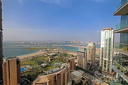 3 Bedroom Flat for Rent in Dubai Marina, Dubai - 3 Beds | High Floor | Sea and Palm Views