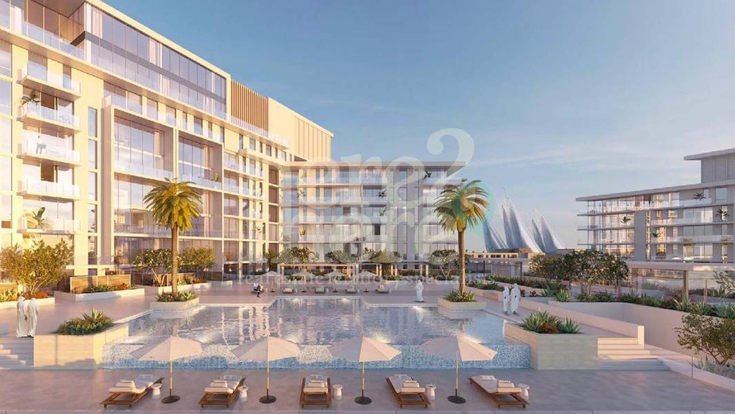 2 Luxurious 2br Townhouse in Mamsha Saadiyat with Courtyard and Seaview.