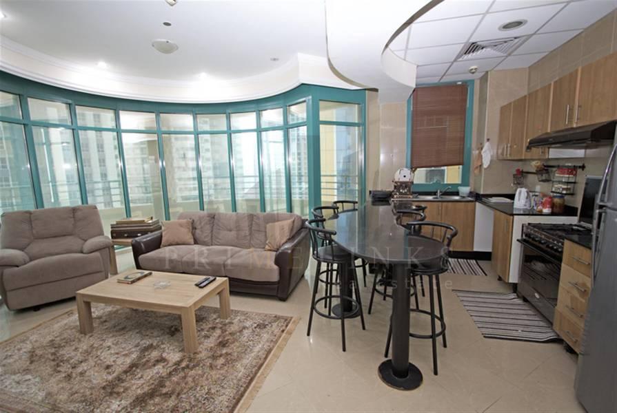 2 Fully furnisced | 2 bedrooms High Floor