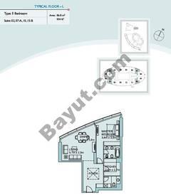 Type L 1 Bedroom Suite (2,7,10,15)