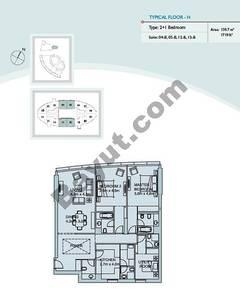 Type H 2 Bedroom Suite (4,5,12,13)